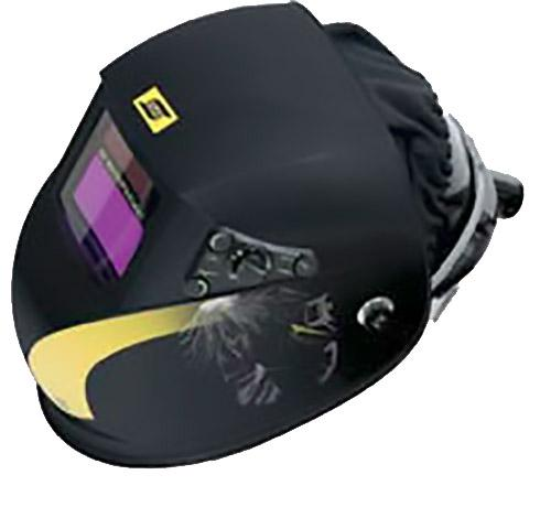 0700000961  ESAB New-Tech 9-13 ADC Plus helmet prepared for Fresh air & hard hat.