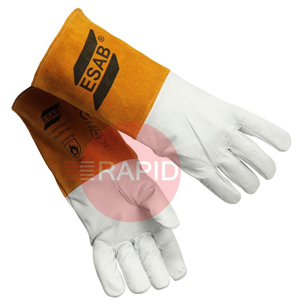 0700005006  ESAB TIG SuperSoft Welding Gloves Size 9