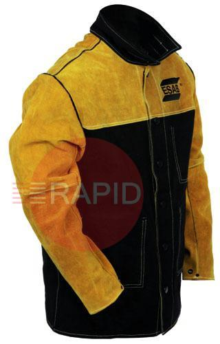 0700PBL-JT  ESAB Proban/Leather Welding Jacket, ISO EN11612, EN11611