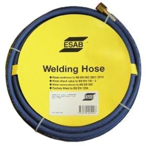 "071262260P  Esab Oxygen Hose - Blue, 10mm x 20m, Fitted 3/8"" RH"