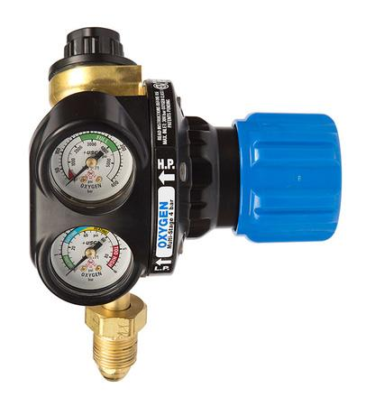 "0785-2103  Edge 4 Series Two Stage Oxygen Regulator, Bottom Entry, 4 Bar, G5/8""  Inlet, G3/8"" Outlet"