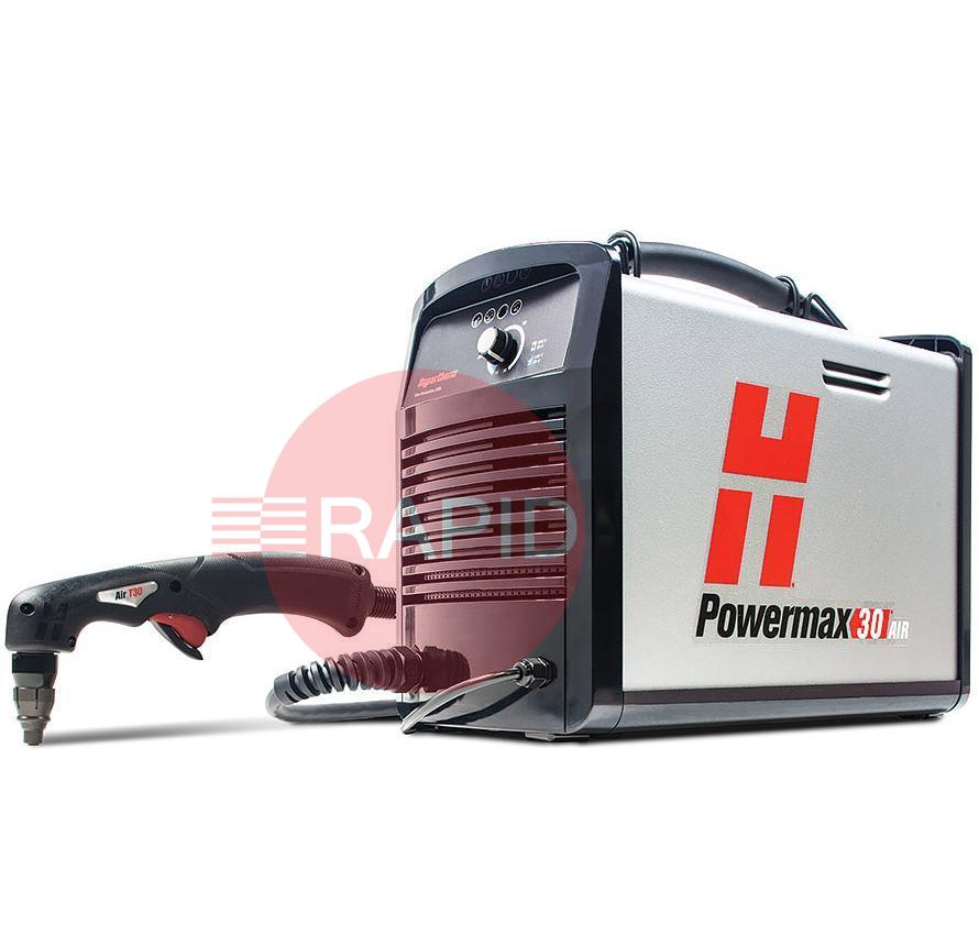 088098  Hypertherm Powermax 30 AIR Plasma Cutter with built-in Compressor & 4.5m Torch, 110v/240v Dual Voltage, CE
