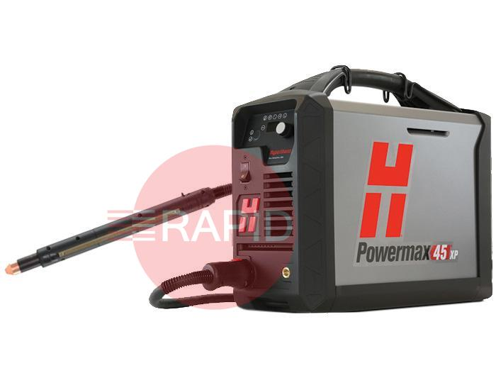 088136  Hypertherm Powermax 45 XP CE/CCC Machine System, with 15.2m (50ft) Torch & Remote, 230v 1ph