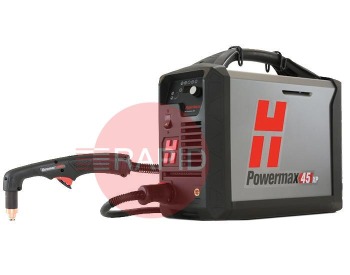 088144  Hypertherm Powermax 45 XP CE/CCC Hand System with 6.1m (20ft) Torch, 400v 3ph