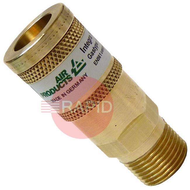 18164  Air Products Cylinder Quick Connector 8 Lpm