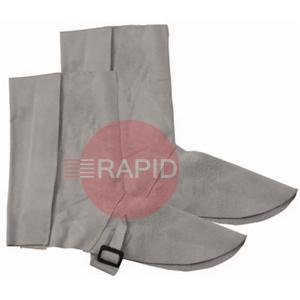 1891  Chrome Leather Gaiters - 12 inch velcro