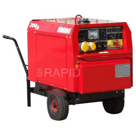 200UK-WK  Shindaiwa 200 UK Diesel Driven 3.3kVA Welder Generator with Wheel Kit