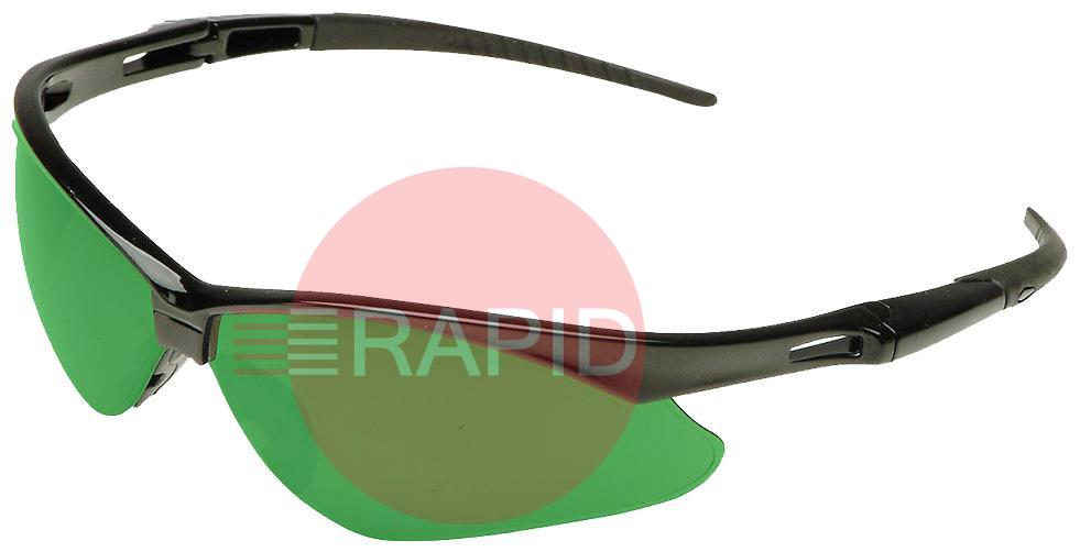 3004762  Jackson Nemesis Green Wrap Around Spectacles. IRUV 3.0