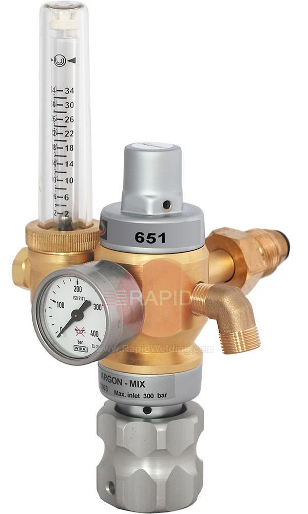"3100725  Harris Gas Saver Regulator - Model 651, 30 Lpm Adjustable, G5/8"" Side Entry"