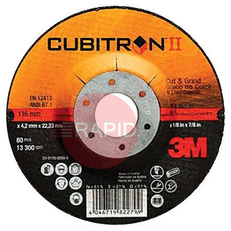 3M-65454  3M Cubitron II 115mm (4 1/2 Inch) x 1.6mm Cut Off Wheel