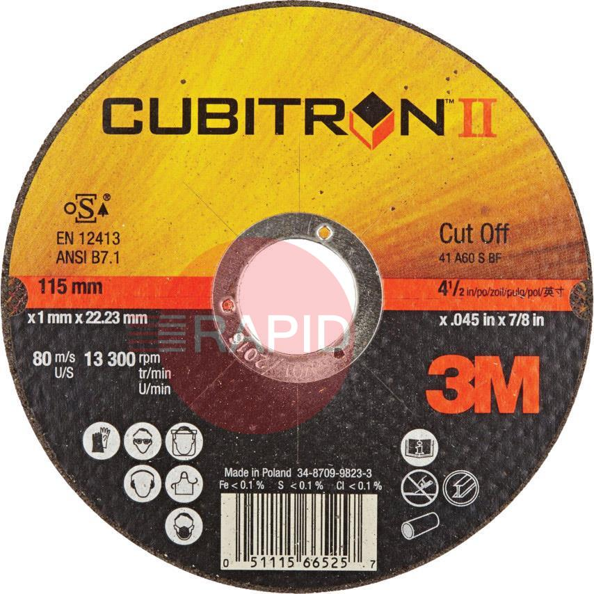 3M-65513  3M Cubitron II 115mm (4 1/2 Inch) x 1.0mm Cutting Disc