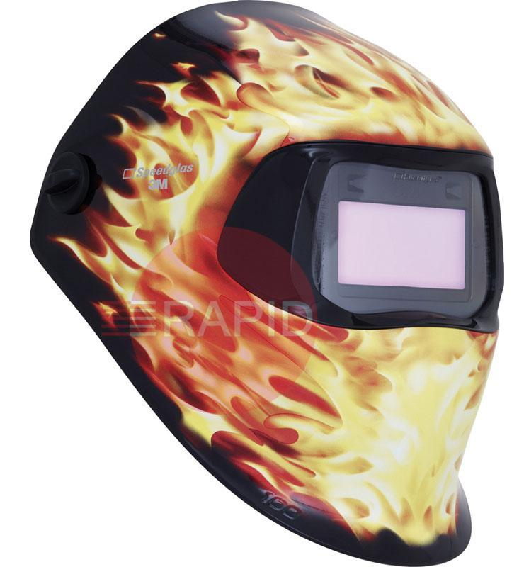 3M-751220  3M Speedglas 100 V Blaze Welding Helmet. Variable Shade 8 to 12