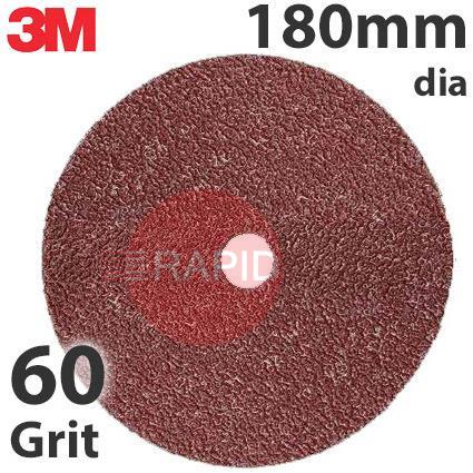 3M-89720  3M 782C Fibre Disc, 180mm dia, 60+ Grit, Box of 25