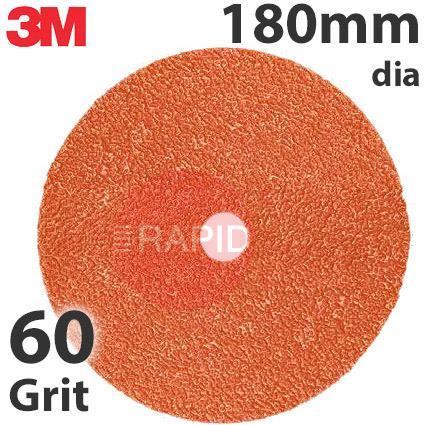 3M-89736  3M 787C Fibre Disc, 180mm dia, 60+ Grit, Box of 25