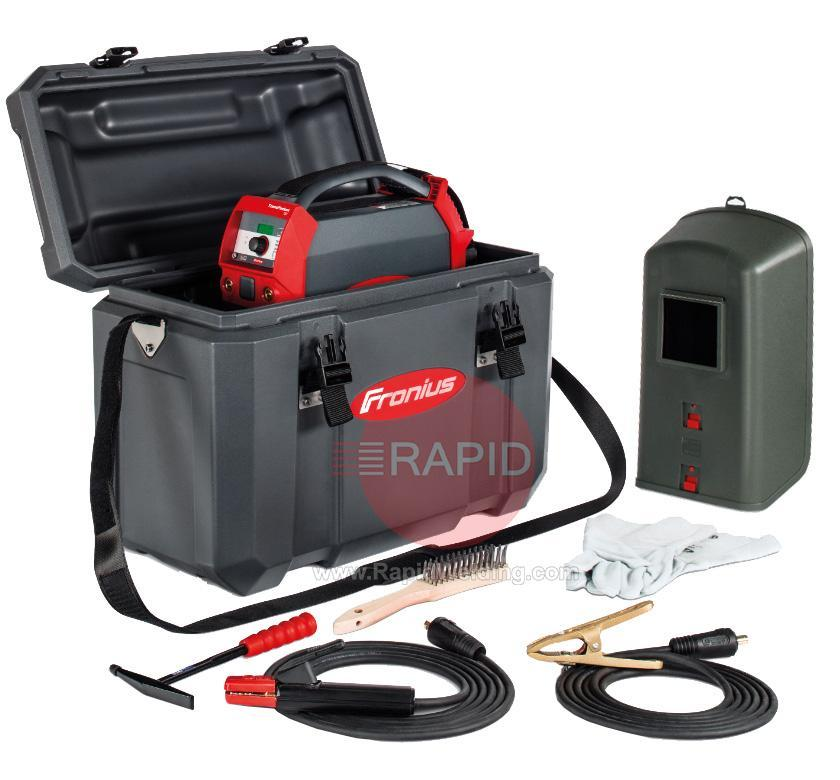 4,075,210,850  Fronius TransPocket 150/Set/G Inverter Arc Welder with MMA Leads & Site Carry Case, 230v