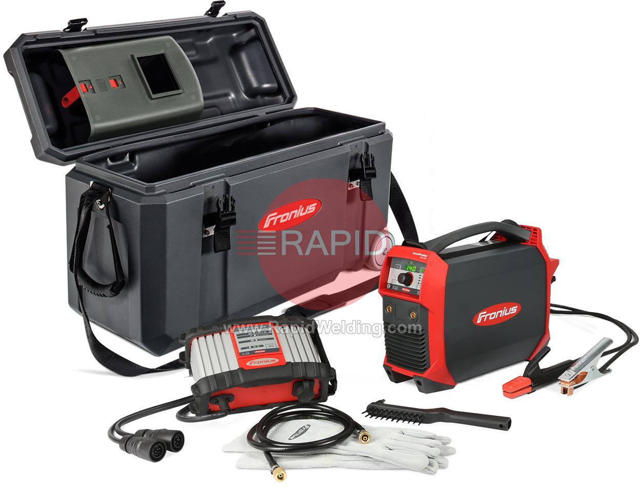 4075200850  Fronius AccuPocket 150 Battery Powered Arc Welder Package with Case, 230v