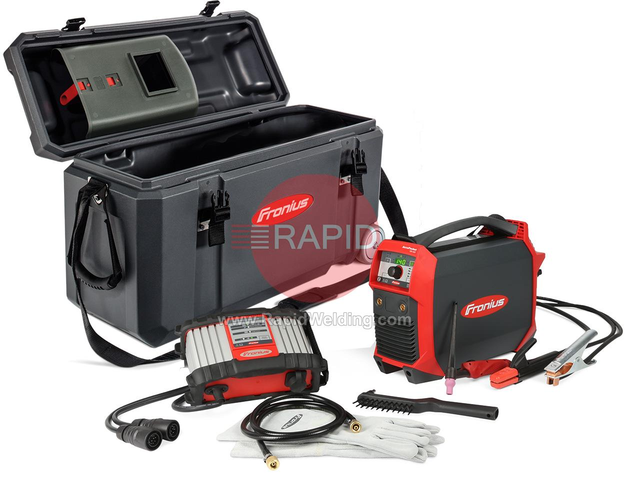 4075201850  Fronius AccuPocket 150 Battery Powered Tig Package with Charger, Tig Torch, Earth Cable and Case