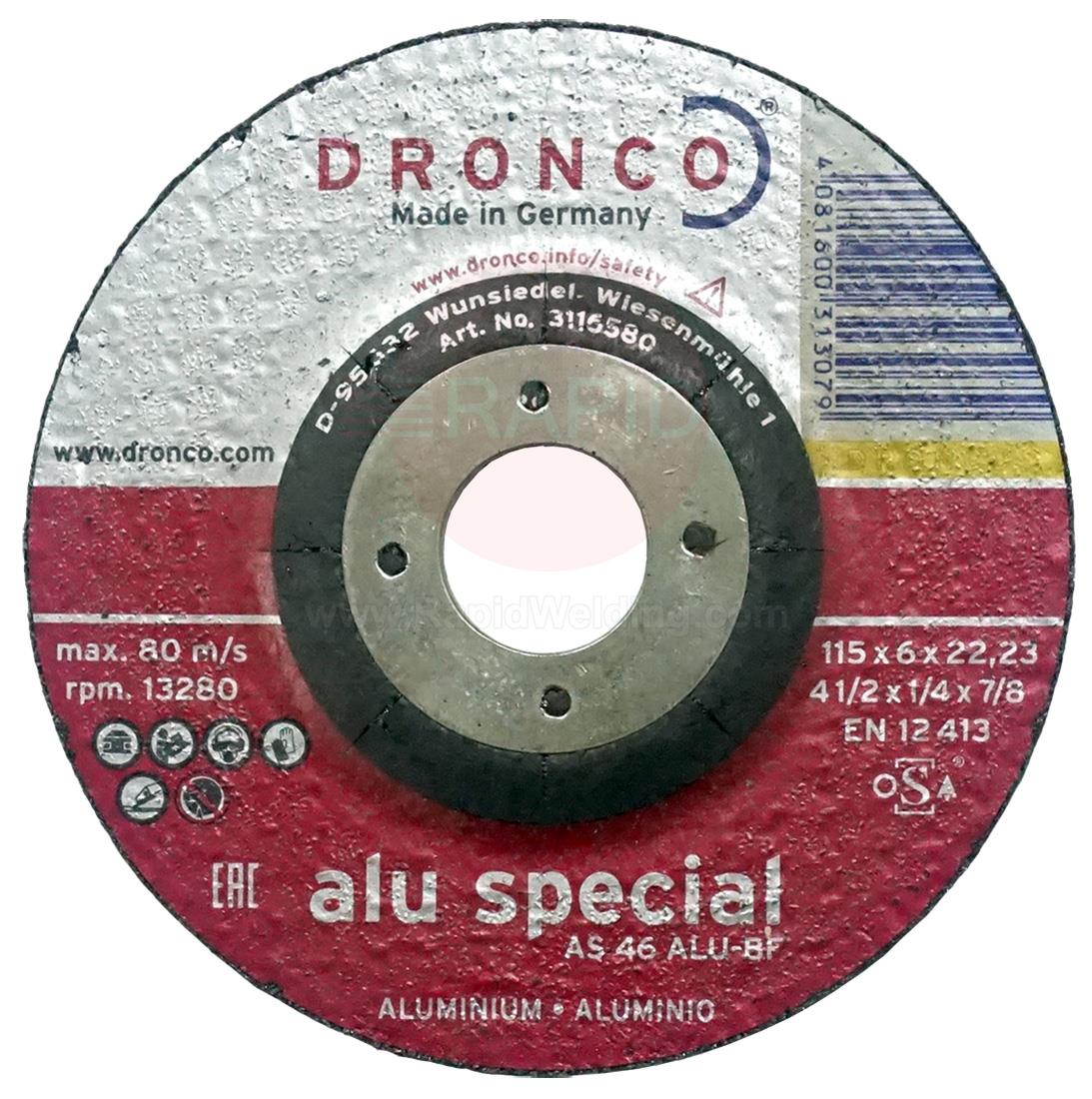 "412AG  115mm (4 1/2"") Aluminium Grinding Disc 115 x 6 x 22.23mm"