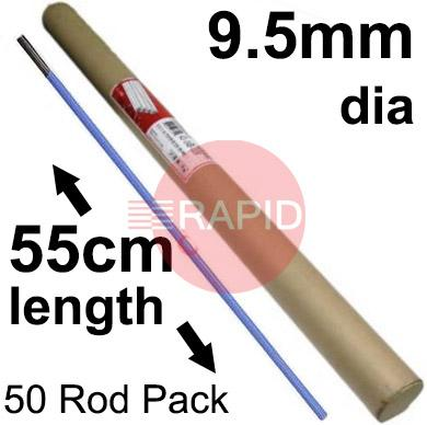 "42-049-005  Arcair Slice 9.5mm dia x 45cm long Flux Coated Electrodes (3/8"" x 18"")  Box of 50"