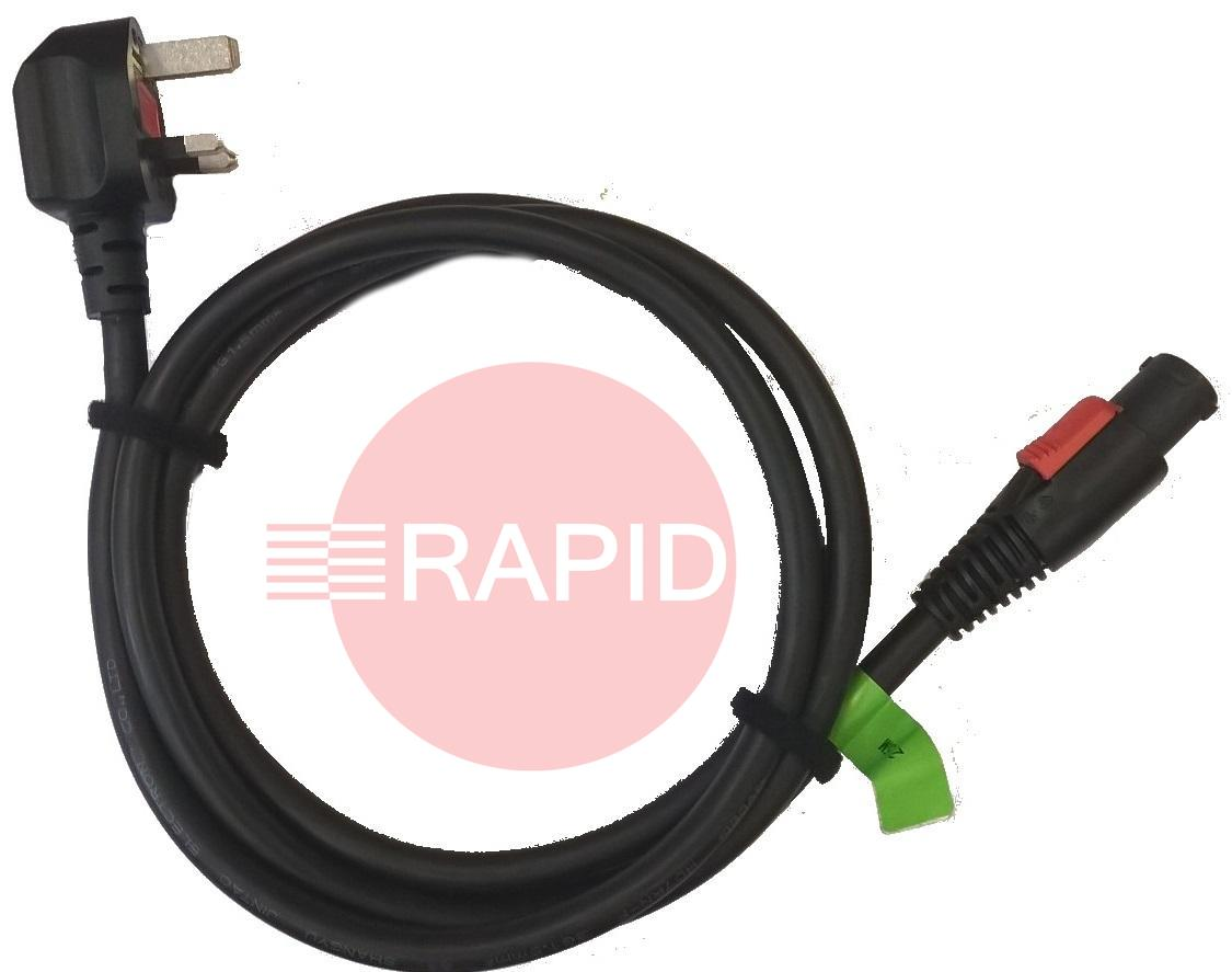 43,0004,5664  Transpocket 230v Power Cable with 3 Pin 13 amp UK mains plug
