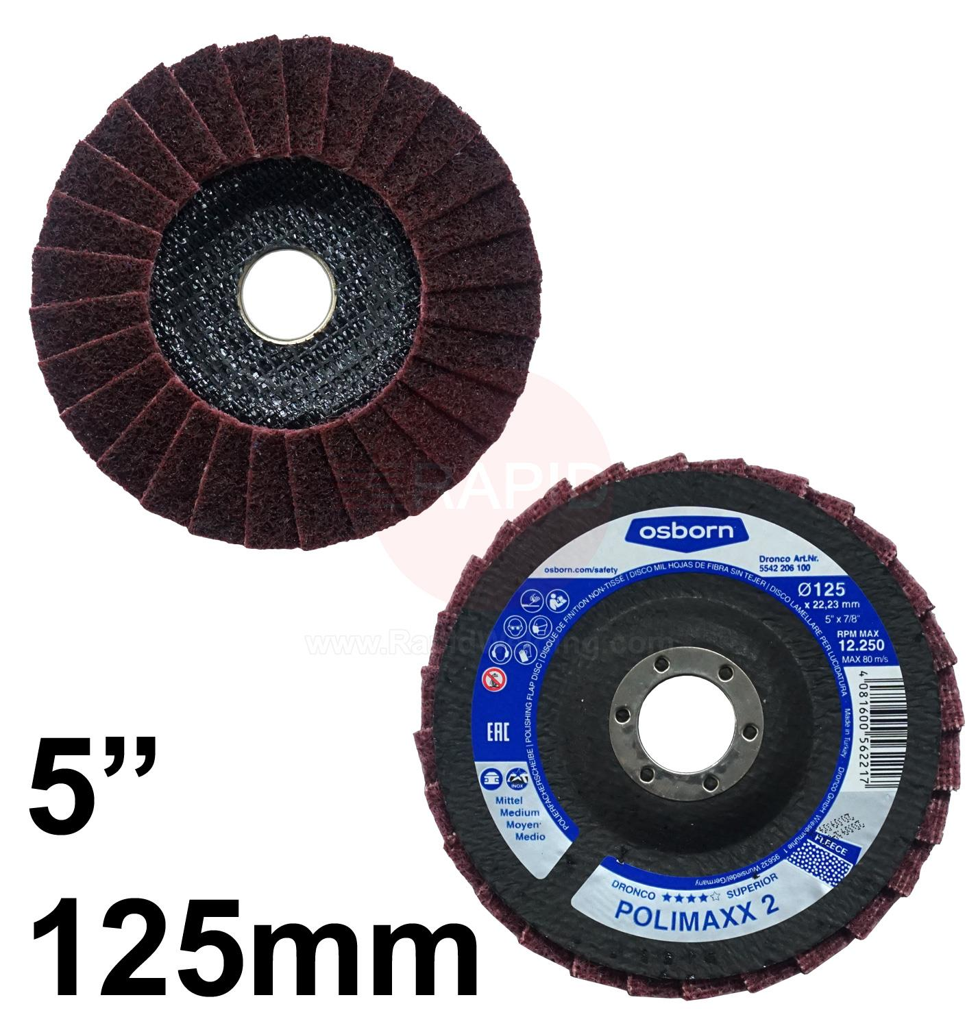 "5512206  DRONCO 5"" POLISHING FLAP DISC MEDIUM"