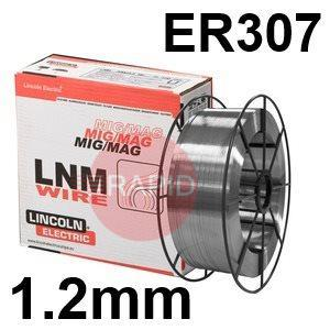 581911  Lincoln Electric LNM 307 Stainless Steel MIG Wire, 1.2mm Diameter, 15.0 Kg Reel, ER307, G 18 8 Mn