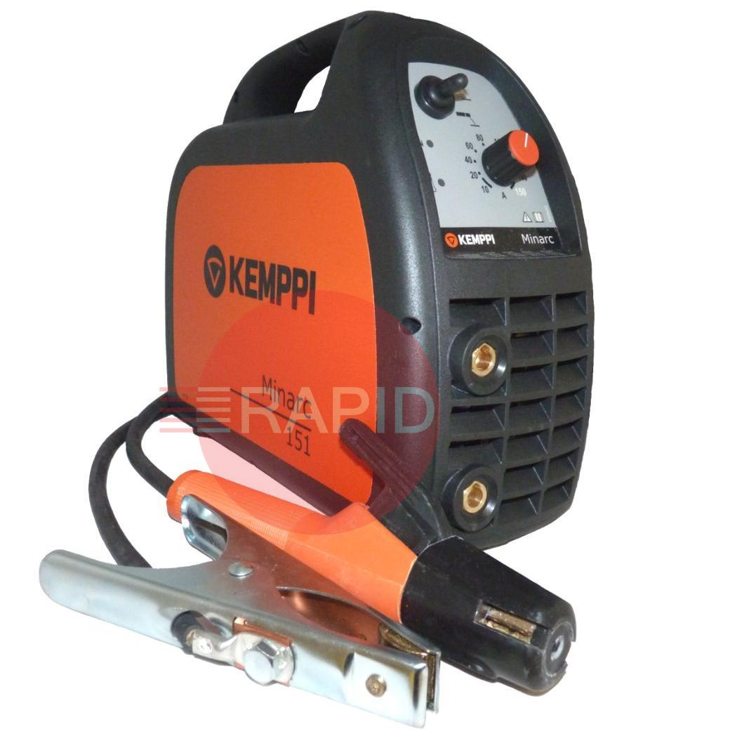6101151  Kemppi Minarc 151 Inverter Arc Welder with 3m Cable Set, 110 volt