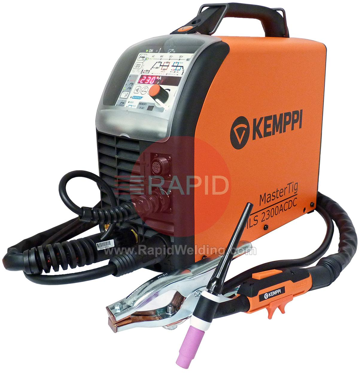 6162300ACX Kemppi MasterTig MLS 2300 ACX AC/DC Ready to Weld Tig Welder  Package.