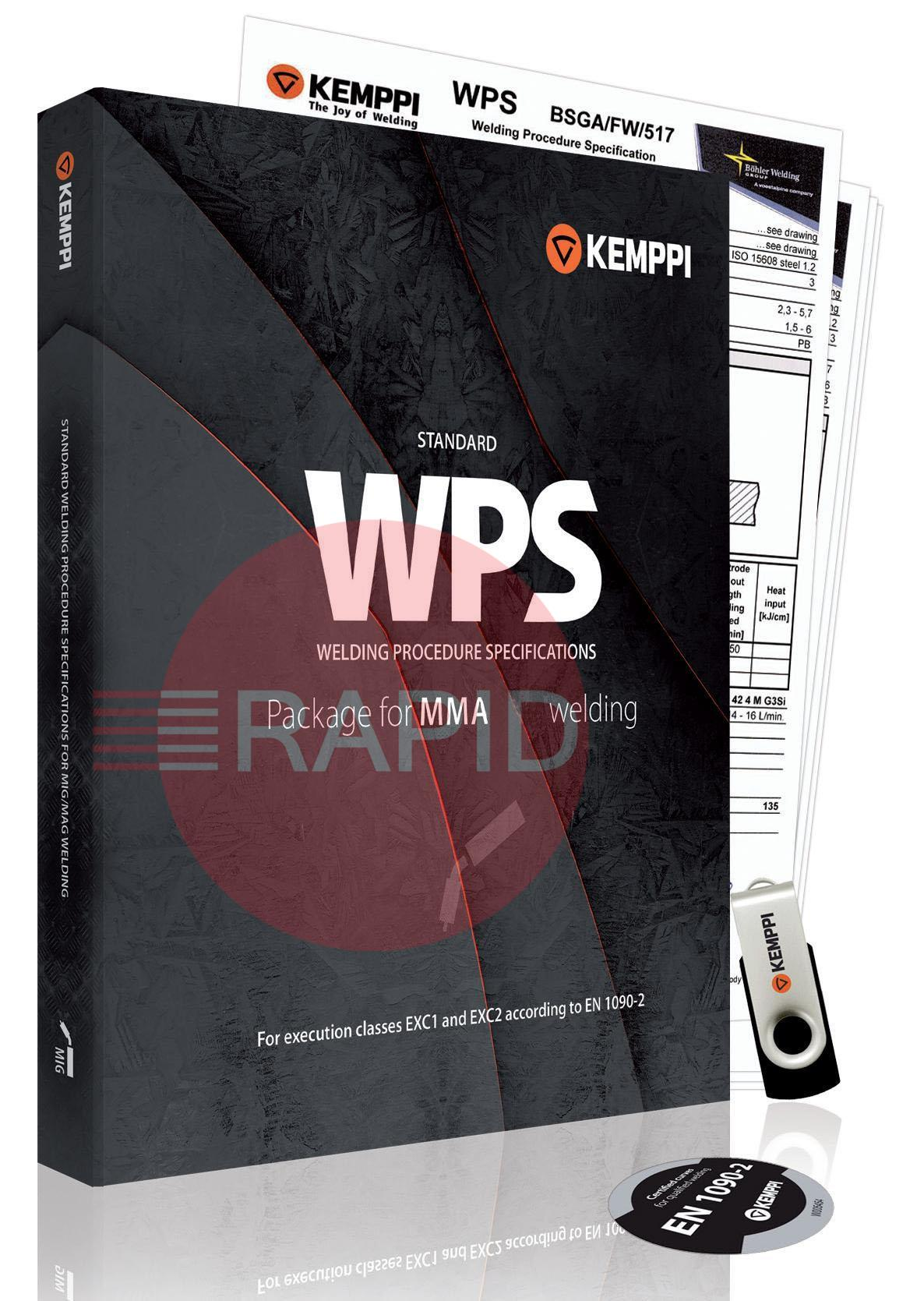6800002  Kemppi Universal WPS package for MMA (Suitable with all welding machine brands)