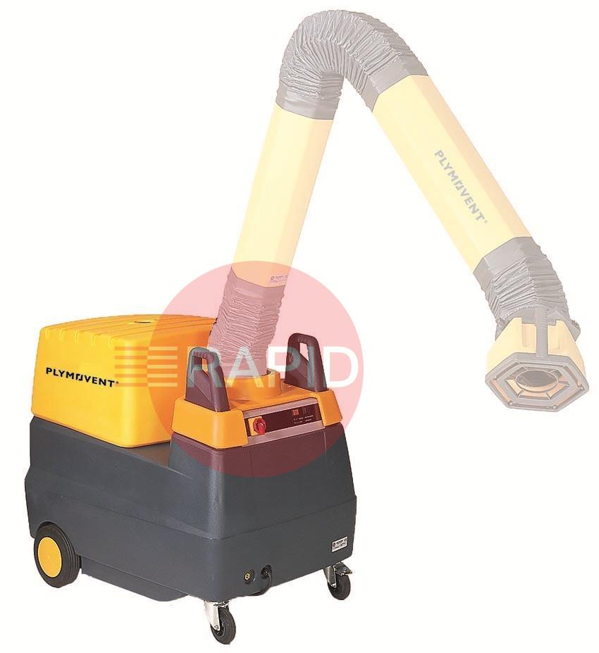 7045-MFS-C  Plymovent MFS-C Mobile Welding Fume Extractor with self-cleaning filter & Internal Compressor (Requires Extraction Arm)