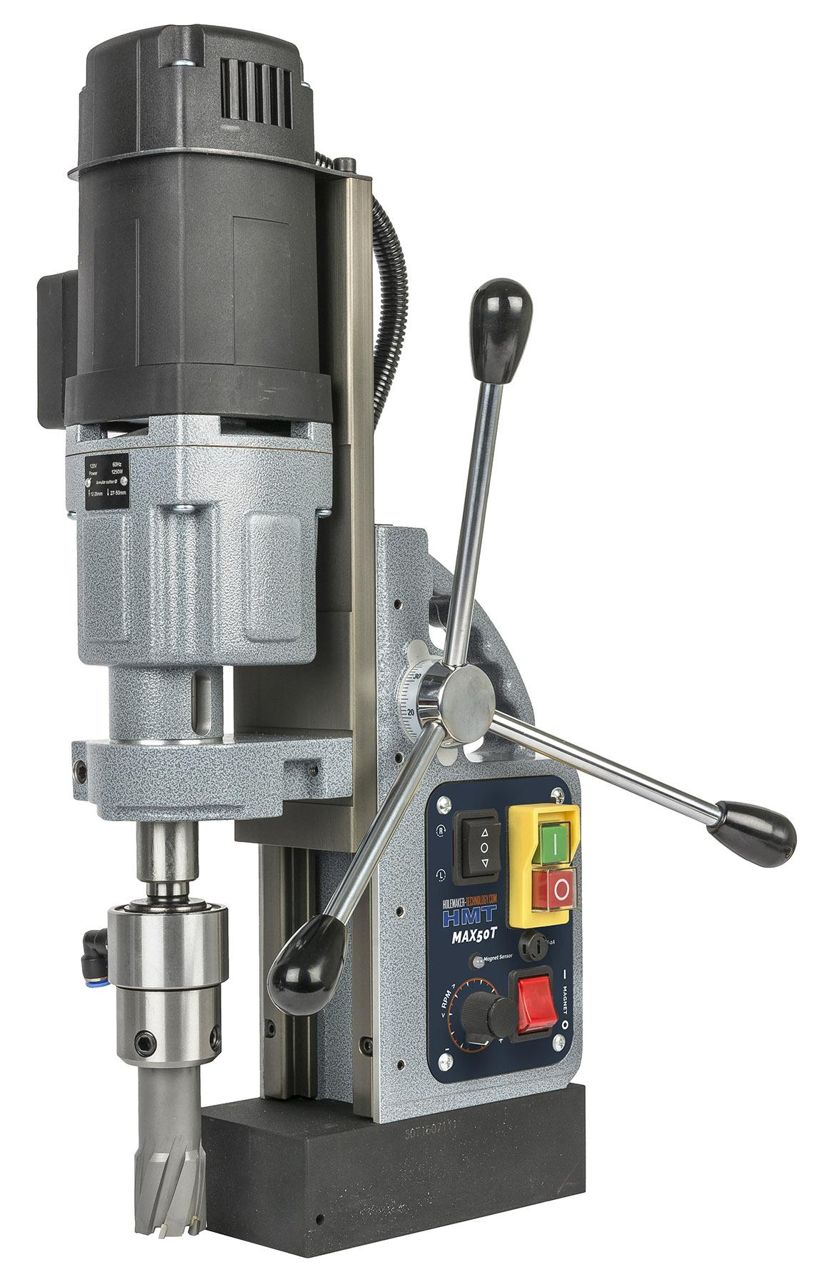 803050-0001  HMT Max-50T Tapping Magnet Drill 110 Volt with FREE TCT Cutter Set
