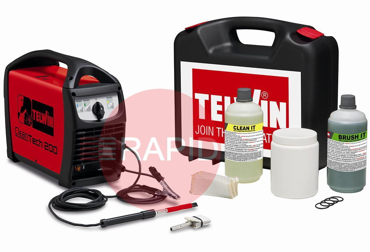 850020  Telwin Cleantech 200 Weld Cleaning Kit - 230v