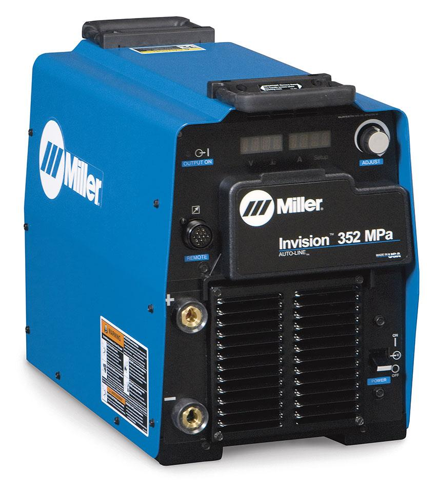 907431002WP  Miller Invision 352 MPa Water Cooled Pulse Mig Welder Package with S-74 MPA Plus Wire Feeder and Pulse Programs, 208 - 575 VAC 3 Phase