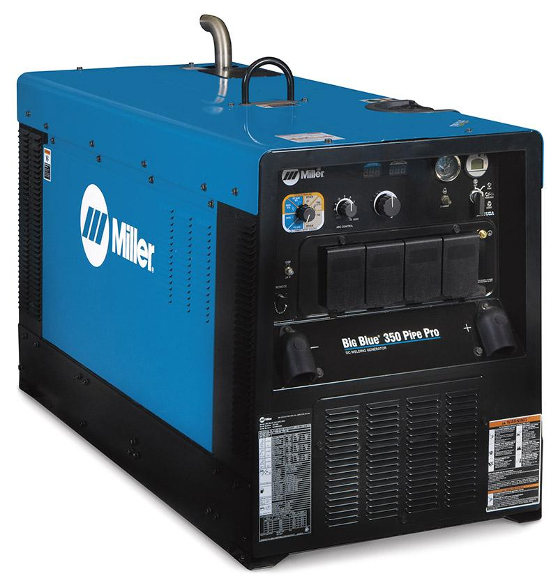 907530P  Miller Big Blue 350 PipePro Diesel Driven Welder Generator Package with 10m MMA Cable Set and 6m Hand Remote