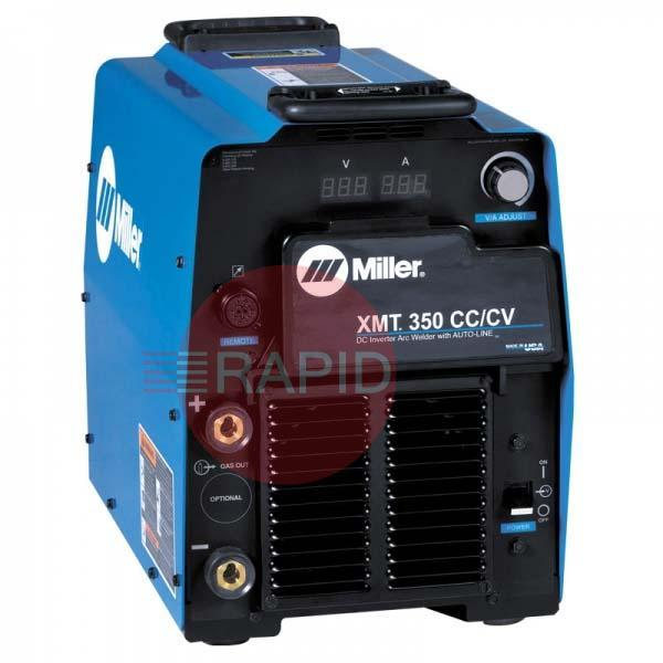 907556003  Miller XMT 350 CC/CV Multiprocess Welding Power Source, with Gas Valve, 208-575 VAC, 3 Phase