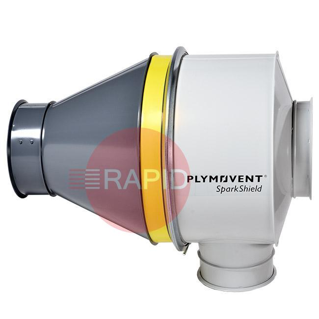 9760001010  Plymovent SparkShield-250 Spark Arrestor for Ø 250 mm duct