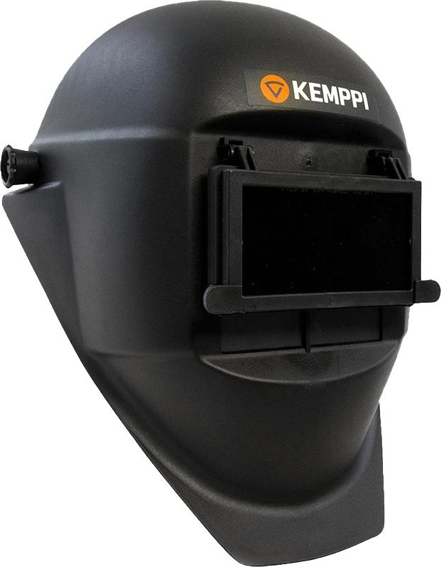 9873010  Kemppi ALFA Welding Helmet With 110mm x 60mm Flip Front For Grinding. Includes Amber Lower Window.