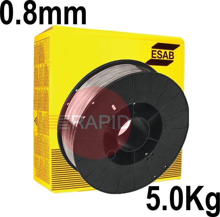 A18085P  ESAB AristoRod 12.50 Premium  A18 (ER70S-6) Mig Wire for Steel.  0.8mm Diameter 5kg Spool