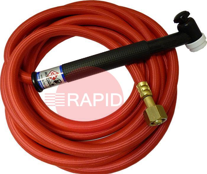 CK-TL2112HSFFX  CK Trimline 3 Series 210 Torch. Gas Cooled 200 amp With 4m Superflex Cable & Flex Head. 3/8 BSP.