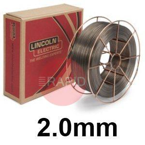 "ED011238  Lincoln Electric Lincore 33 Hardfacing Flux Cored Wire, 2.0 mm (5/64"") Diameter 22.7 Kg (50.0 Ib) Carton"