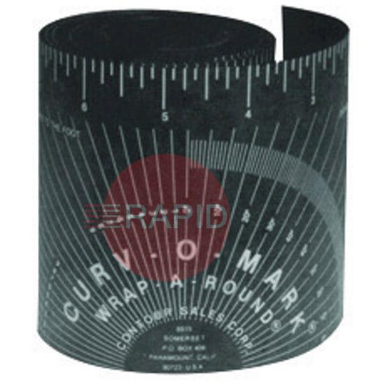 "EJ07200007  Curve O Mark 164B Pipe Wrap A Round. Black Medium 3"" to 6"" Diameter."
