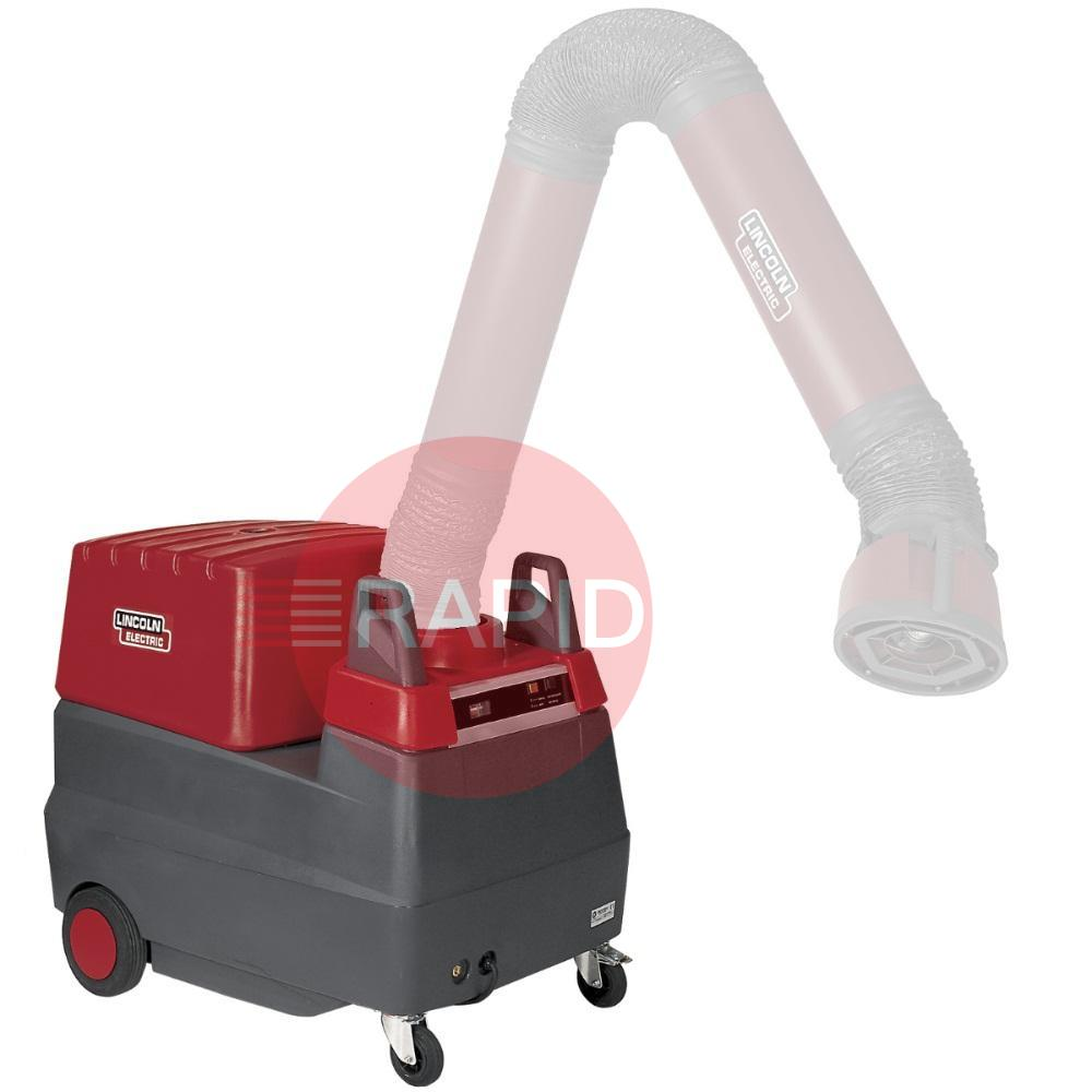 EM7042200700  Lincoln Mobiflex 400MS/C Mobile Fume Extractor with Built cleaning by compressed air shot. 230v (machine only, arm not included)