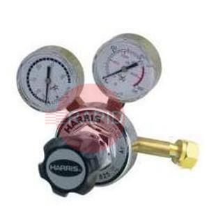 "H1065  Harris Carbon Dioxide 896 Two Stage Two Gauge Regulator 10.0 bar, W21,8x14/1"" Cylinder Connection, 3/8"" BSP Outlet"