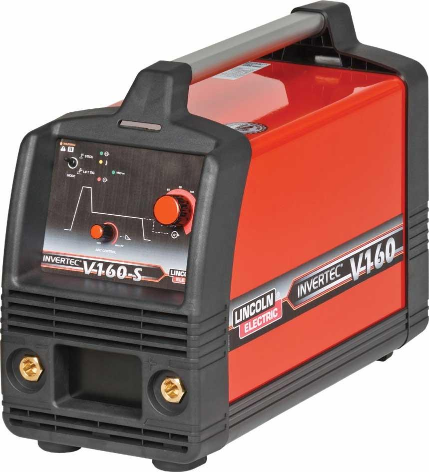 K12016-3  Lincoln Invertec V160 S 2V MMA Inverter Arc Welder, 110/240v Dual Voltage CE