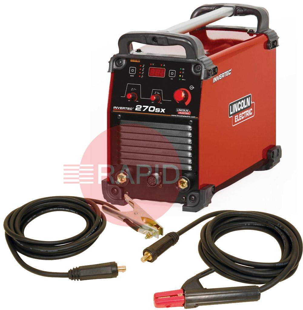 K12040-1P  Lincoln Electric Invertec 270 SX - Ready to Weld Package, 400v 3ph CE