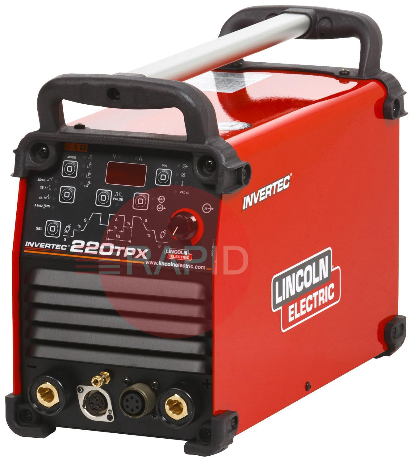 K12057-1  Lincoln Invertec 220 TPX Pulse Tig Inverter Power Source, 110/230v CE