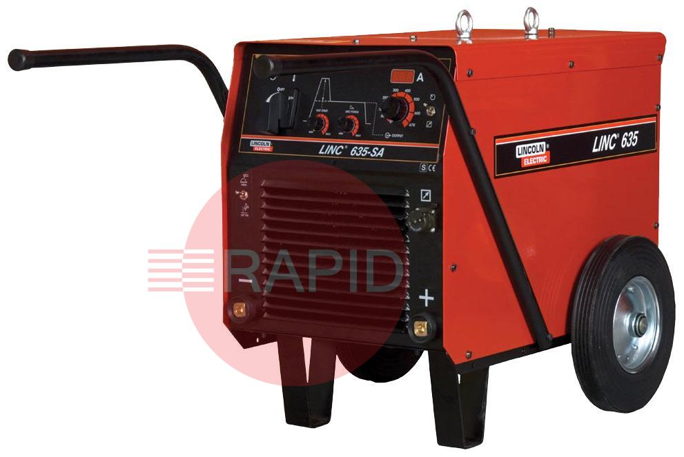 K14038-1  Lincoln Electric LINC 635-SA with meters - CE. Complete with the additional features of arc force, hot start, digital meters and Lift TIG