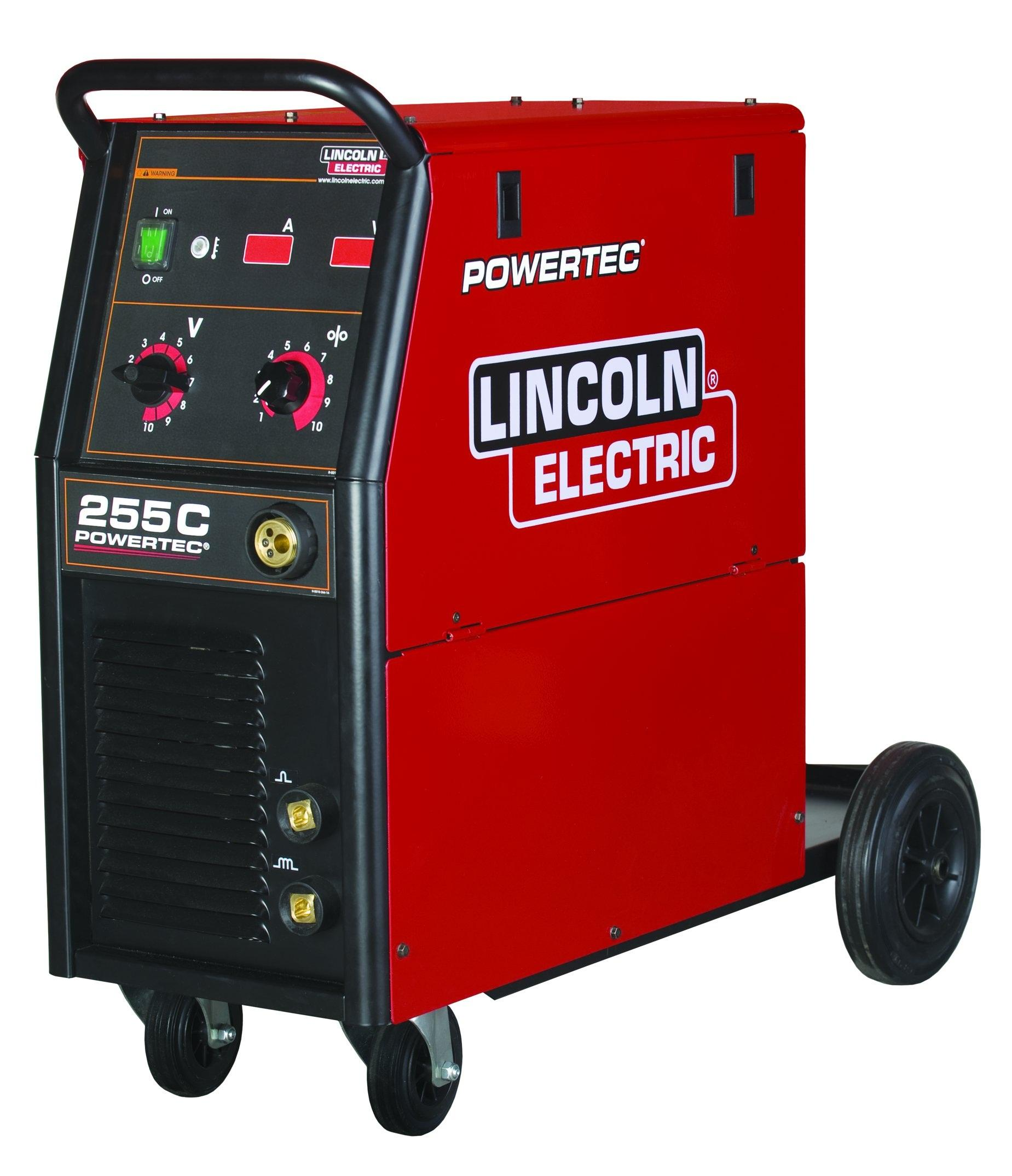 K14055-1P  Lincoln Electric Powertec 255C Mig Welder 400V, 3 Phase, Ready to Weld Package
