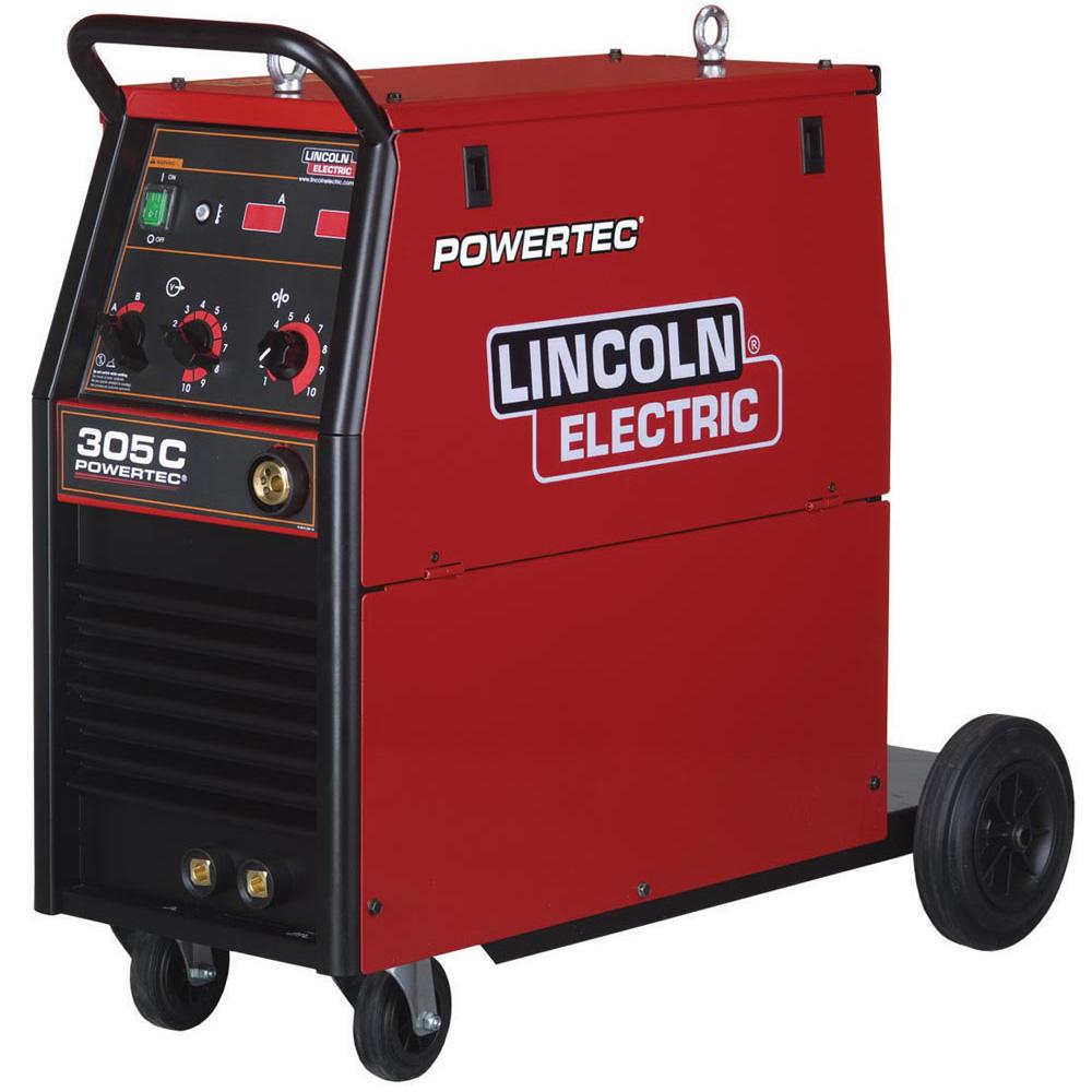 K14056-3P  Lincoln Powertec 305C (4 Roll) 400v 3 Phase Mig Welder - Ready to Weld Package