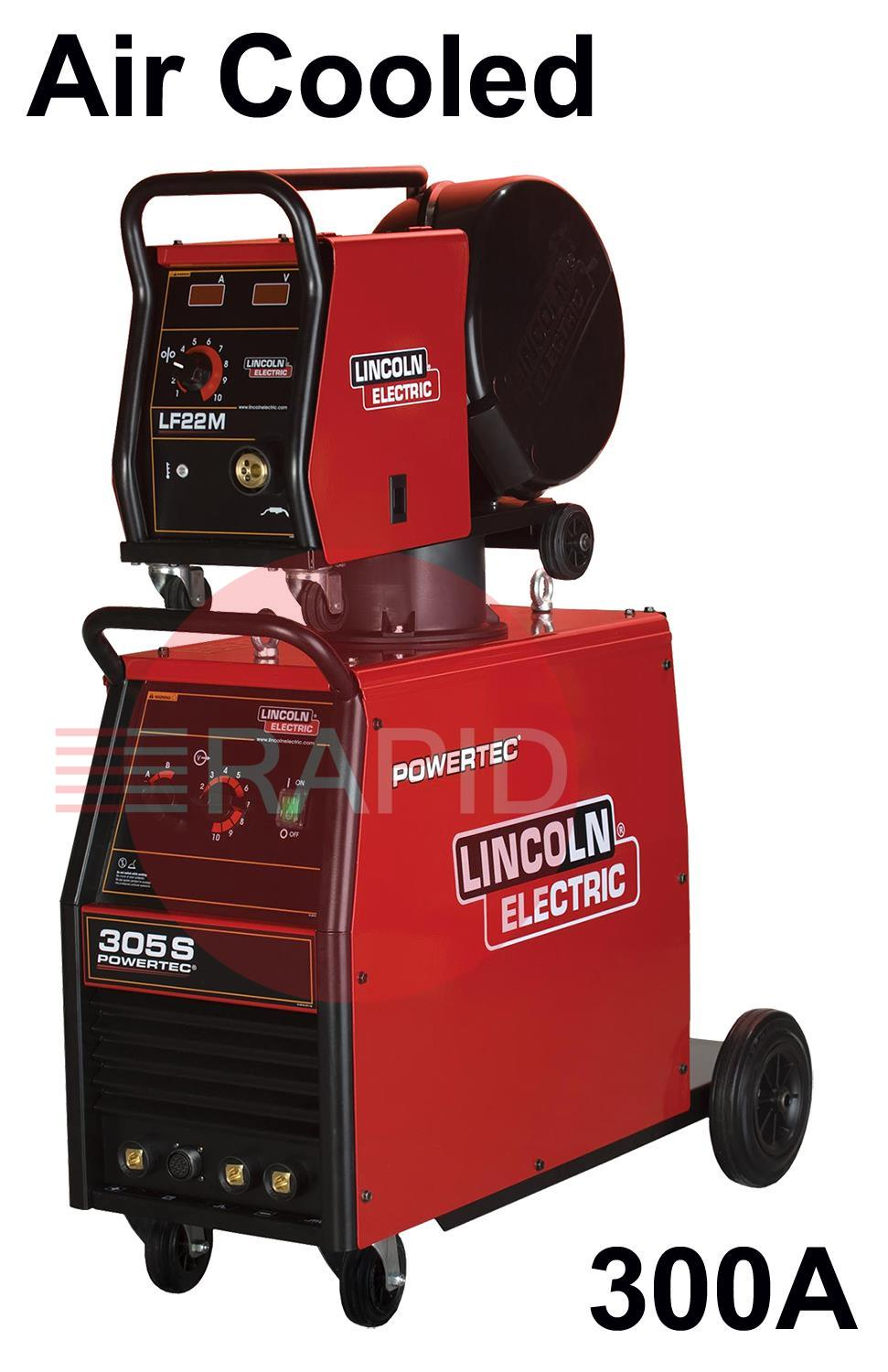 K14060-2X-5P  Lincoln Powertec 305-S Mig Welder, Ready to Weld Package 400V 3ph CE